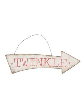 Tin Twinkle Arrow Sign