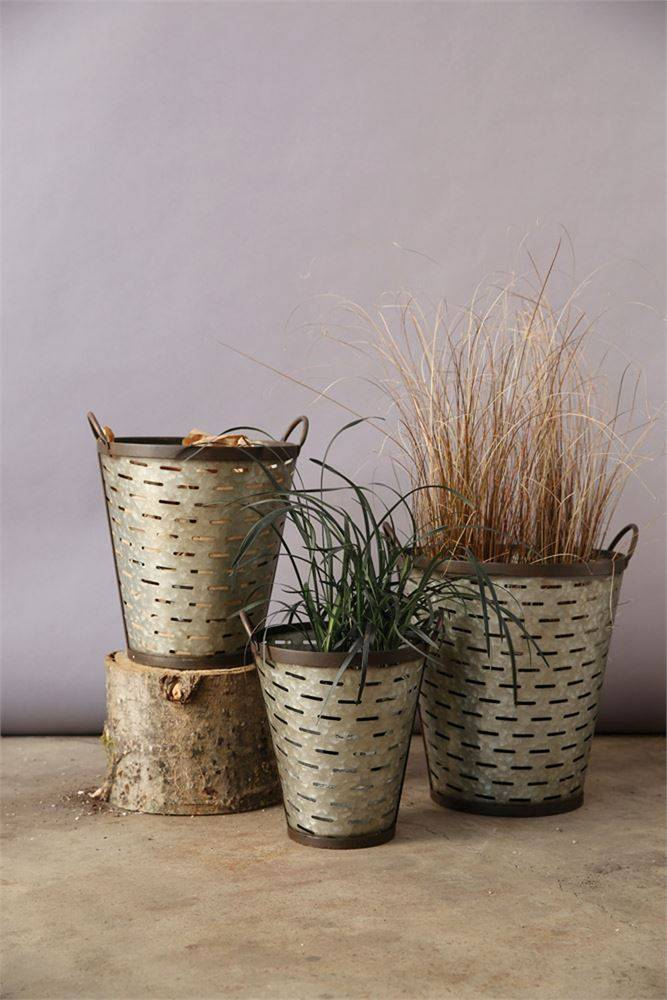 Olive Bucket w/ Handles