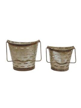 Metal Olive Bucket w/ Handle