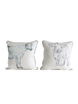 18 Inch Farm Animal Pillows