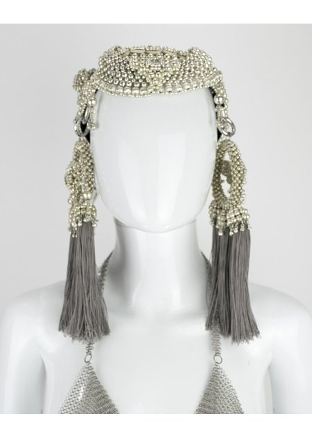 OBJECT AND DAWN ANAIS HEADPIECE W GREY TASSEL MOONS