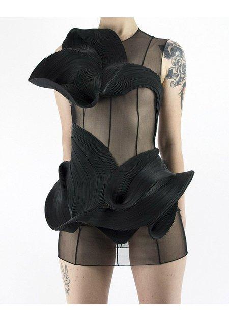 AUTUMN LIN BLACK AVANTE ZIPPER DRESS