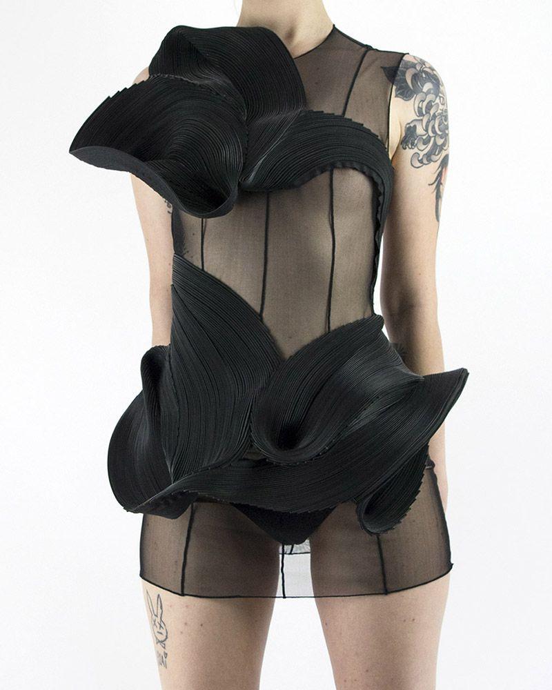 BLACK AVANTE ZIPPER DRESS