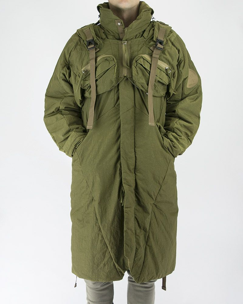 2 PIECE QUILTED COAT IN OLIVE