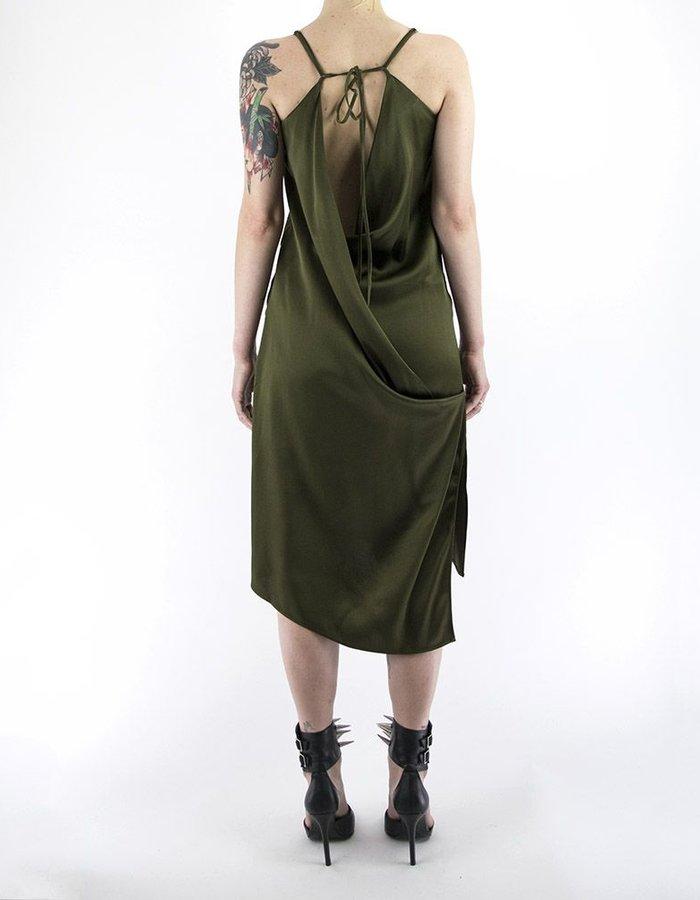 ANDREA YA'AQOV SPAGHETTI STRAP DRESS  W/ PLUNGE BACK