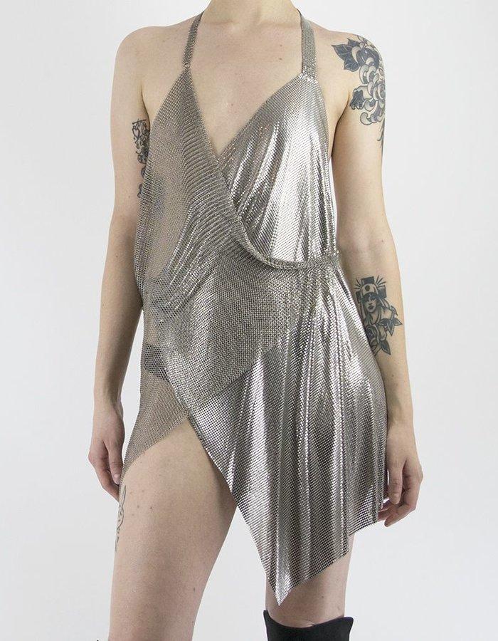FANNIE SCHIAVONI 2 TONE METAL MESH DRESS