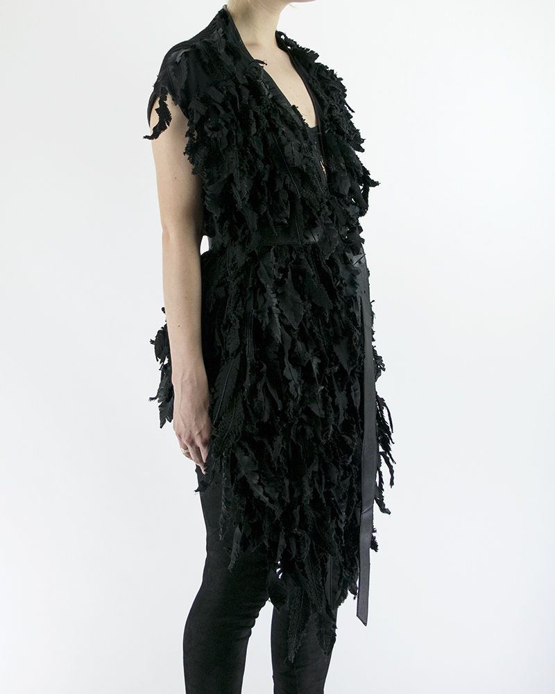"""FEATHERED"" GILET"