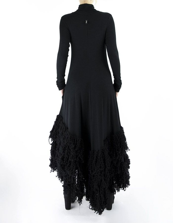 DAVID'S ROAD DRESS WITH WOOL FRINGES