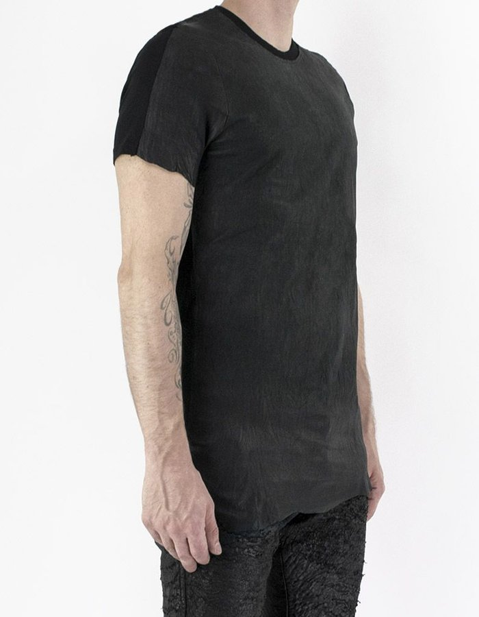 M-OJO RISIN' ASH LEATHER T-SHIRT - BURRO