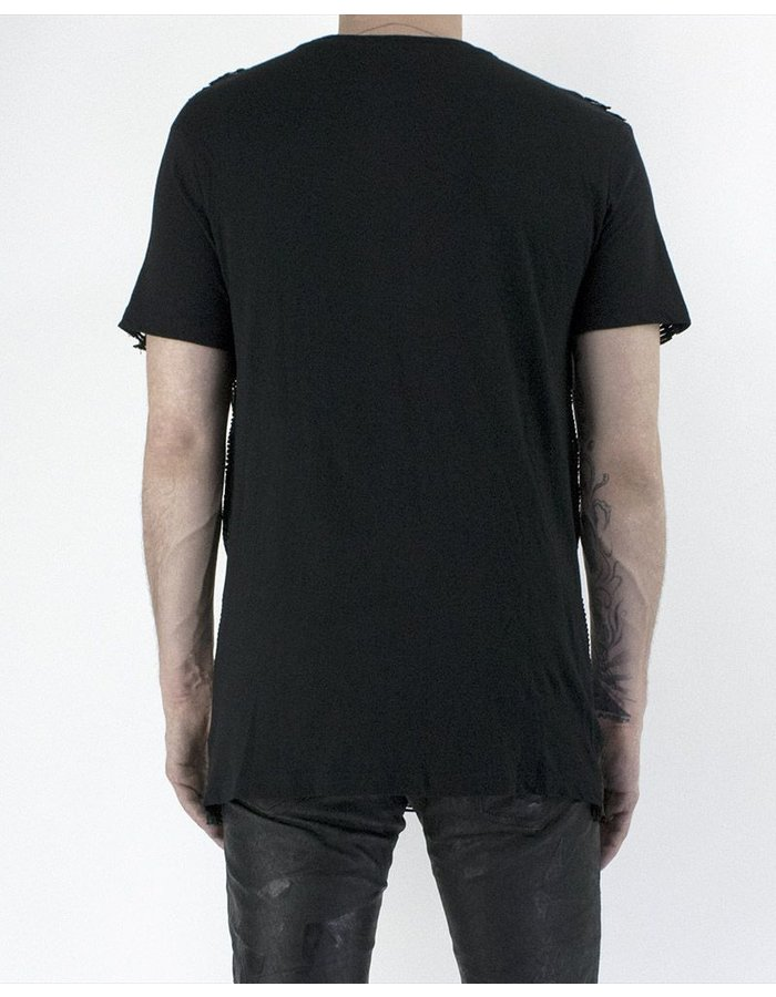 M-OJO RISIN' VENETIAN LEATHER T-SHIRT - GESSATO