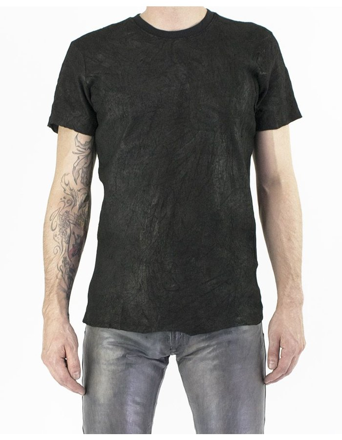 M-OJO RISIN' LEATHER T-SHIRT - ORANGO