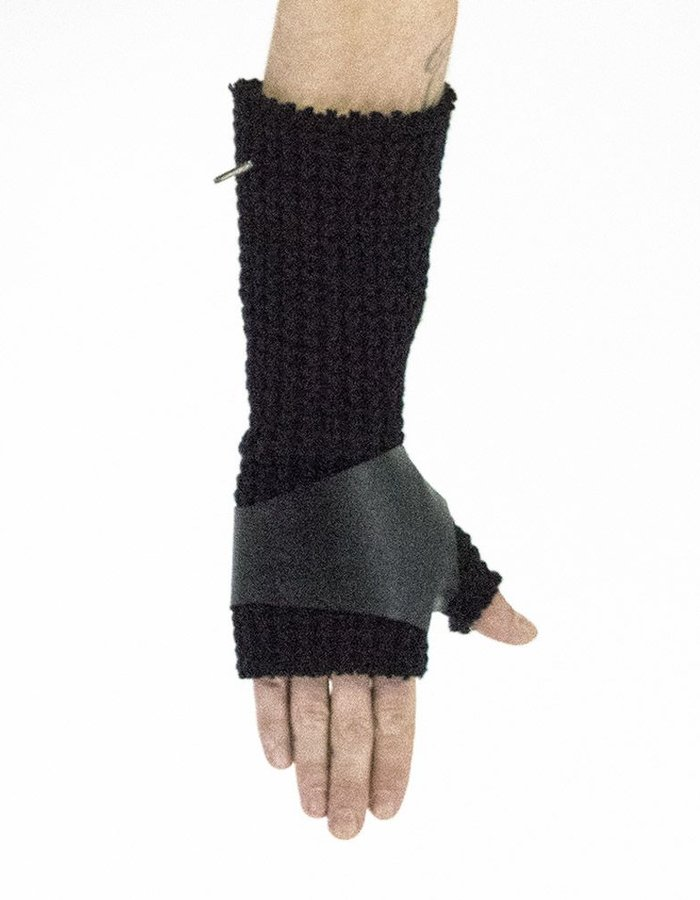 DAVID'S ROAD KNITTED GLOVES WITH LEATHER