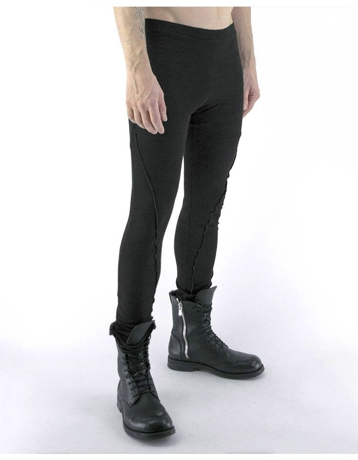 NOSTRA SANTISSIMA UOMO LEGGINGS WITH SPIRAL STITCH