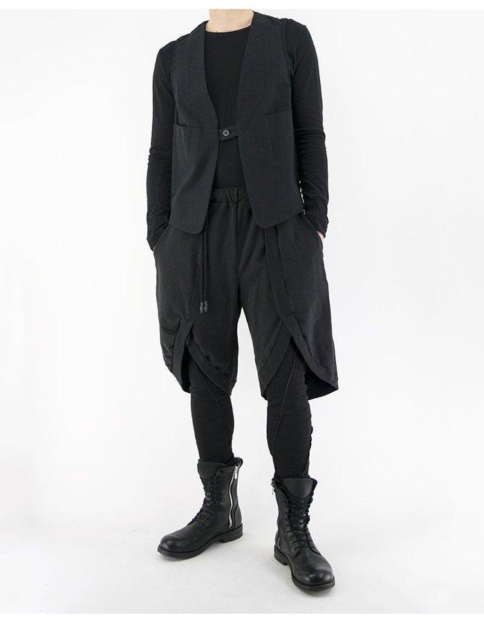 NOSTRA SANTISSIMA JERSEY BERMUDA SHORTS IN BLACK
