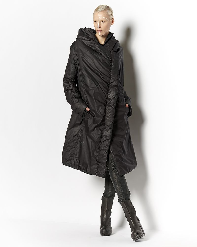 THIN DOWN HOODED COAT