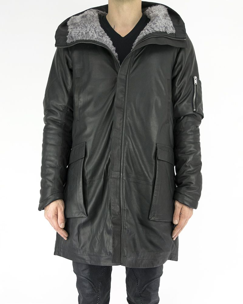 PARKA WITH INTERNAL SHEARLING