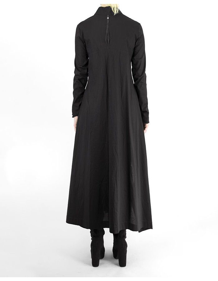 139DEC WRAP COLLAR SHIRT DRESS