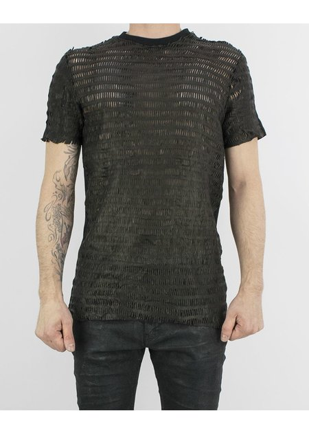 M-OJO RISIN' LEATHER T-SHIRT - ZAG