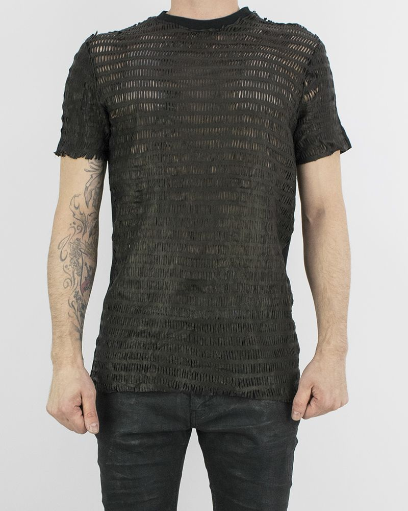 LEATHER T-SHIRT - ZAG