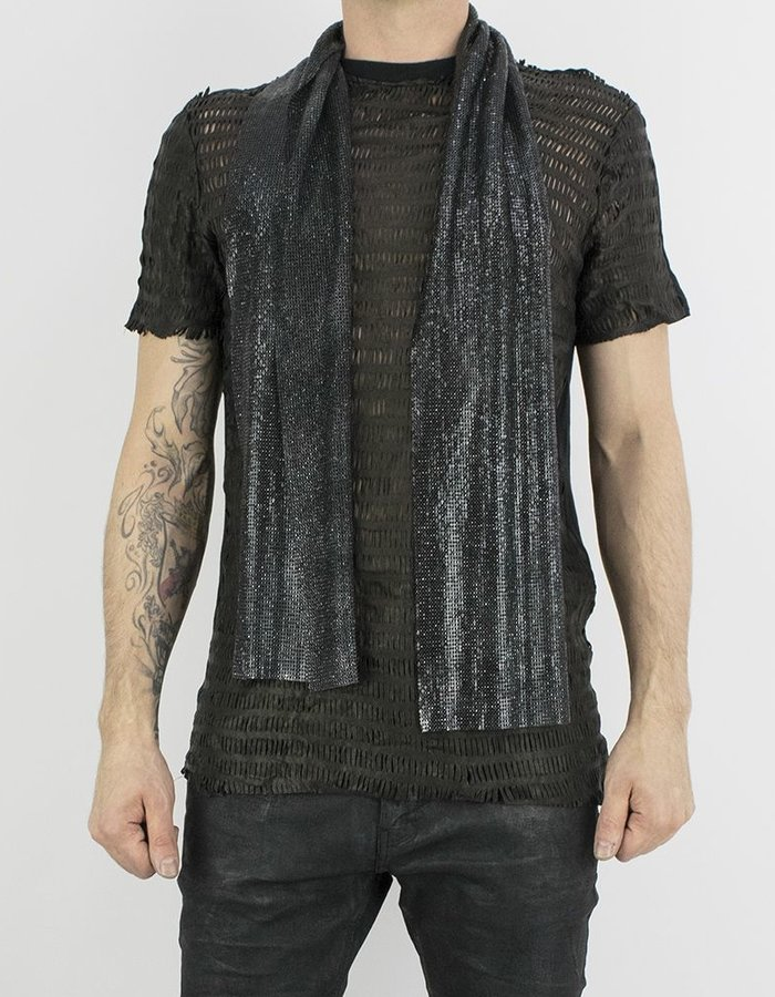 M-OJO RISIN' METAL MESH SCARF - BLACK