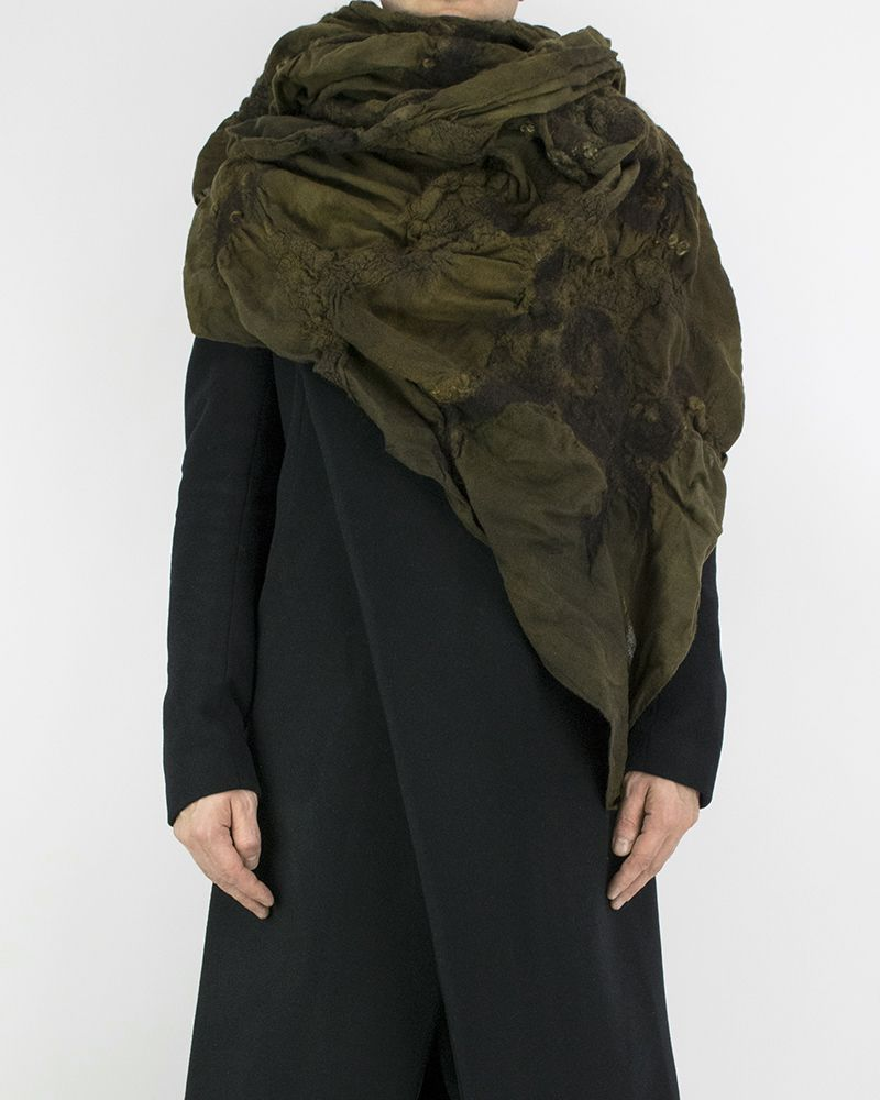 LIGHT WOOL SCARF - GOLD