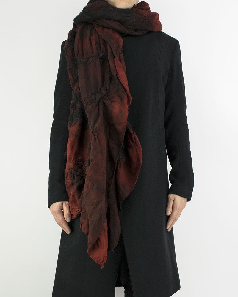 LIGHT WOOL SCARF - RED