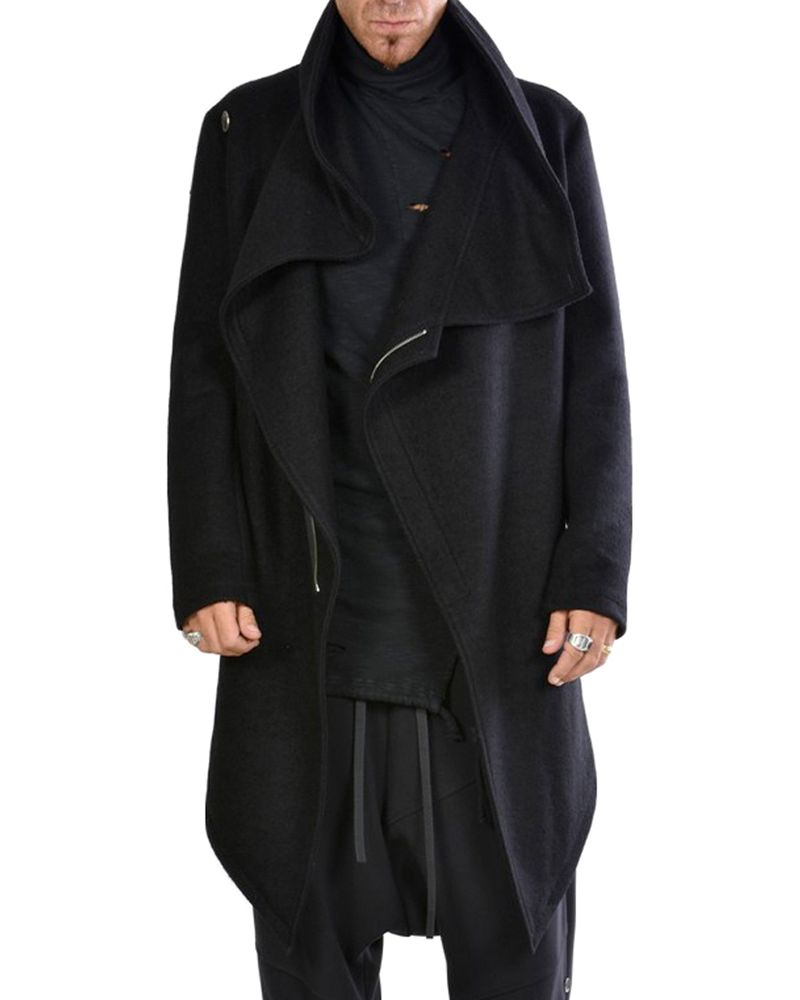 FOLDED COLLAR COAT