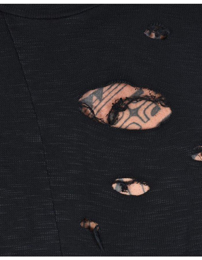 LA HAINE INSIDE US DISTRESSED TURTLENECK SHIRT