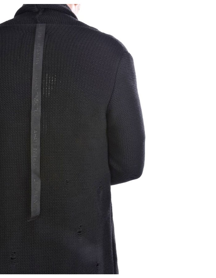 LA HAINE INSIDE US SHAWL COLLAR CARDIGAN WITH POCKETED SLEEVE