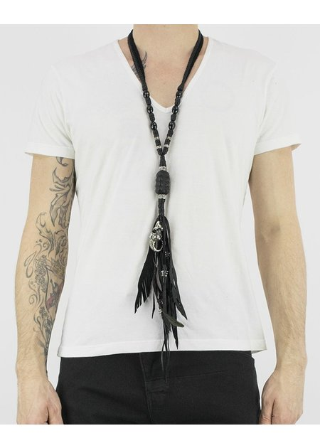 KD 2024 LEATHER STERLING NECKLACE 'FREAK'