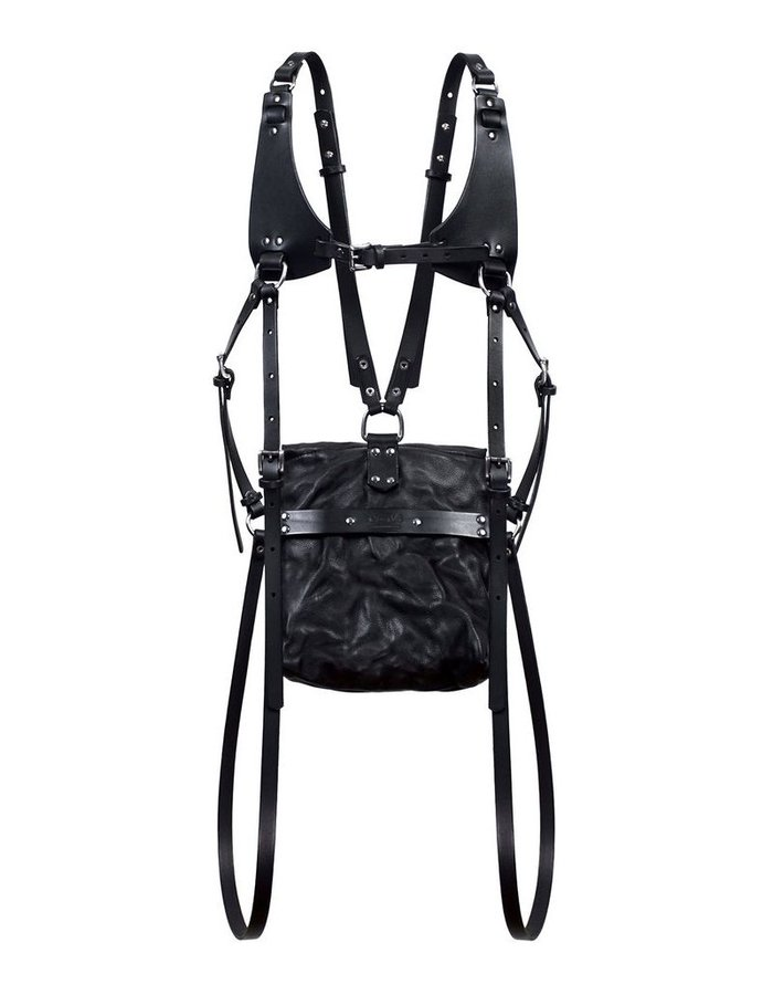 TEO + NG KIMIO LEATHER HARNESS BACKPACK