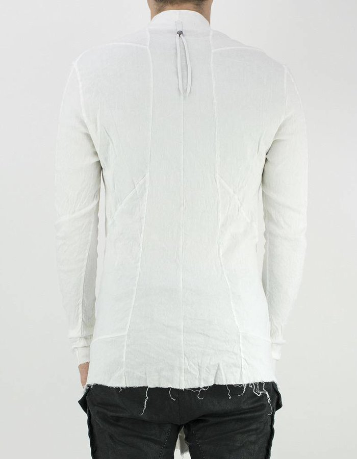 139DEC HIGH COLLAR STRETCH LINEN SHIRT