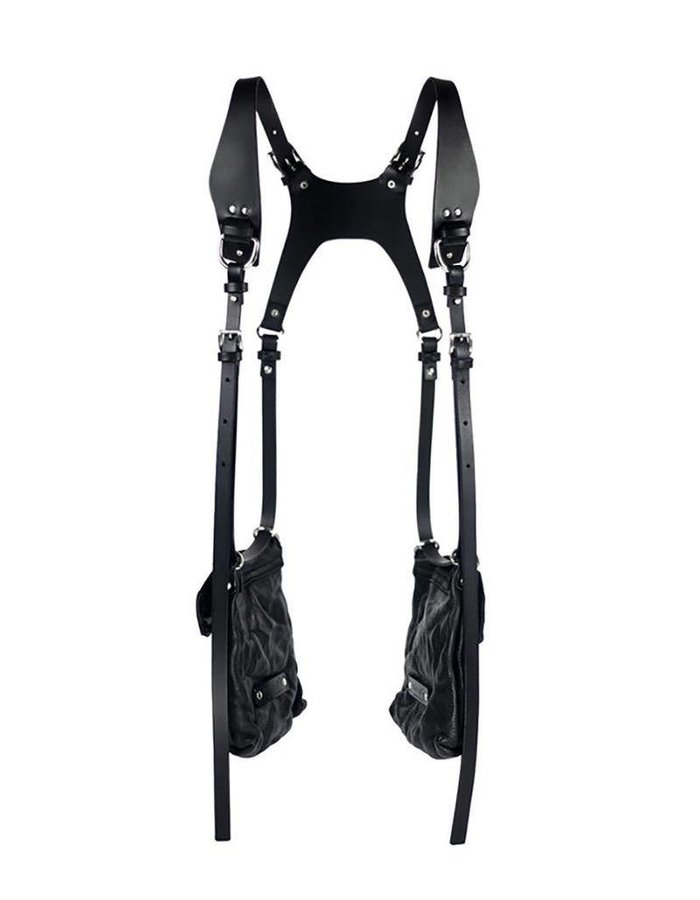 TEO + NG MIKA LEATHER HARNESS  DOUBLE POUCH