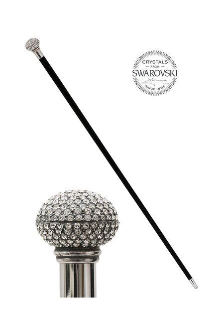 PASOTTI SWAROVSKI  SPHERE WALKING STICK