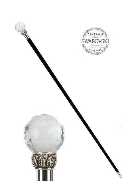 PASOTTI CUT CRYSTAL BALL WALKING STICK