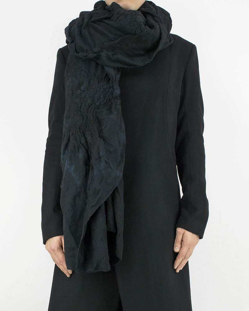 LIGHT WOOL SCARF - BLUE