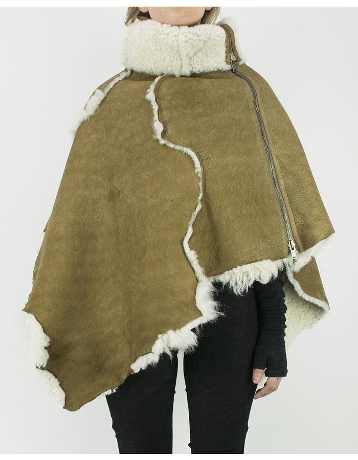 10SEI0OTTO SHEARLING CAPE NATURAL SHEEPSKIN