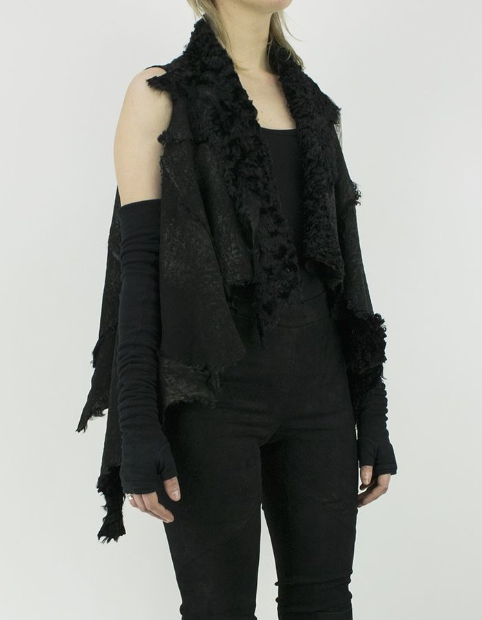 10SEI0OTTO REVERSIBLE SHEARLING CAPE