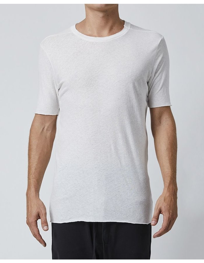 THOM KROM SHORT SLEEVE WITH STITCH DETAILS - OFF WHITE