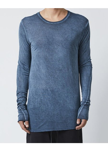 THOM KROM LONG SLEEVE T-SHIRT WITH STITCH DETAILS - MOLD
