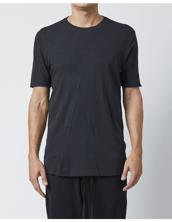 THOM KROM T-SHIRT WITH PAINTED DETAIL ON BACK - BLACK