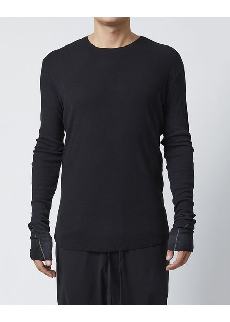 THOM KROM LONG SLEEVE T-SHIRT - BLACK