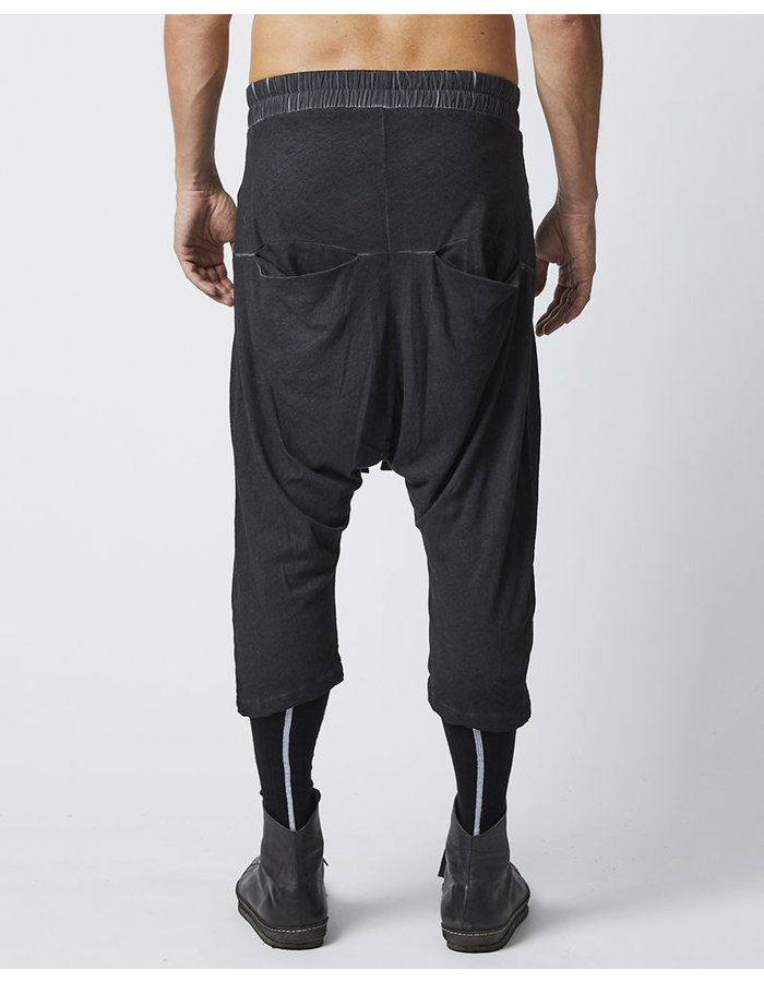 THOM KROM 3/4 LENGTH BAGGY SHORTS - OIL