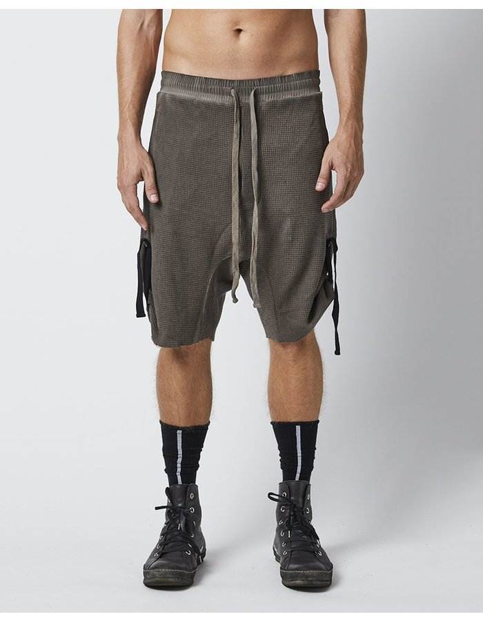 THOM KROM SHORTS WITH SIDE STRINGS - DIRT