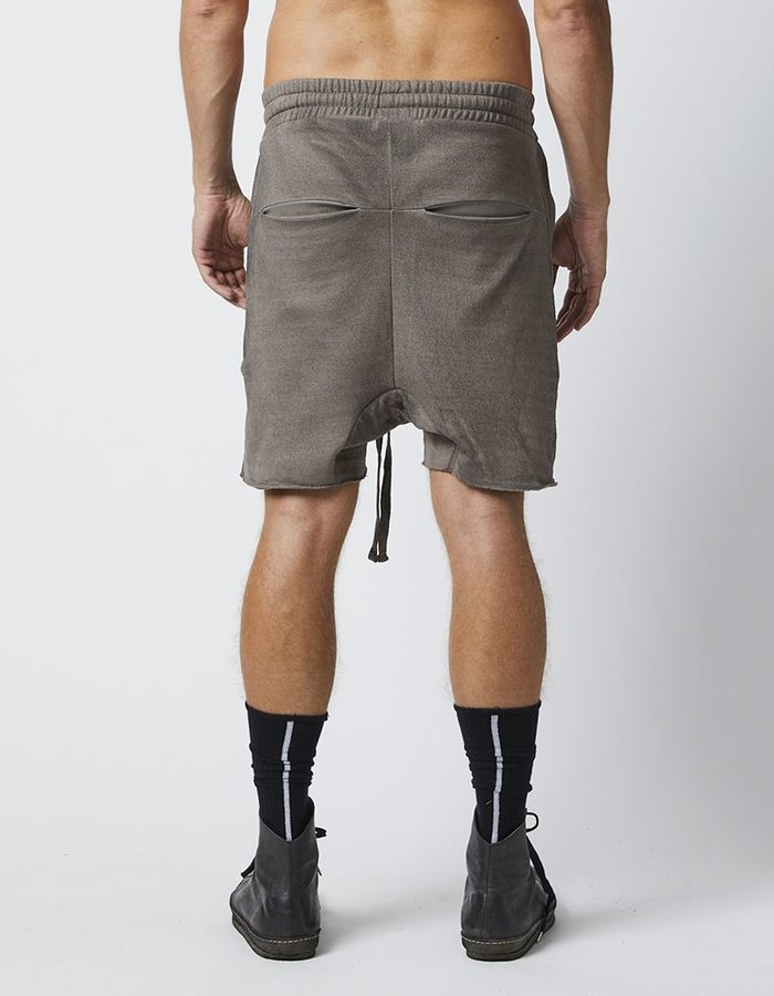 THOM KROM DRAWSTRING SHORTS WITH ZIP FRONT POCKETS - DIRT