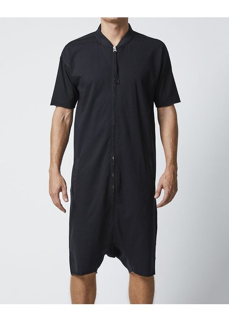 THOM KROM SHORT SLEEVE ZIPPERED JUMPSUIT