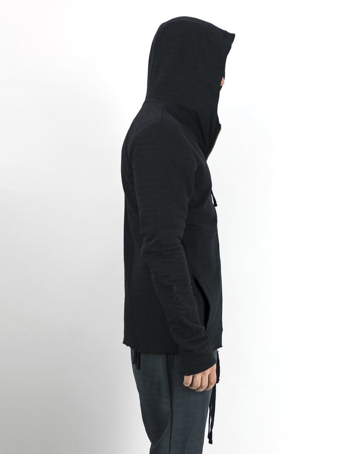 THOM KROM ZIPPERED PANEL HOODIE