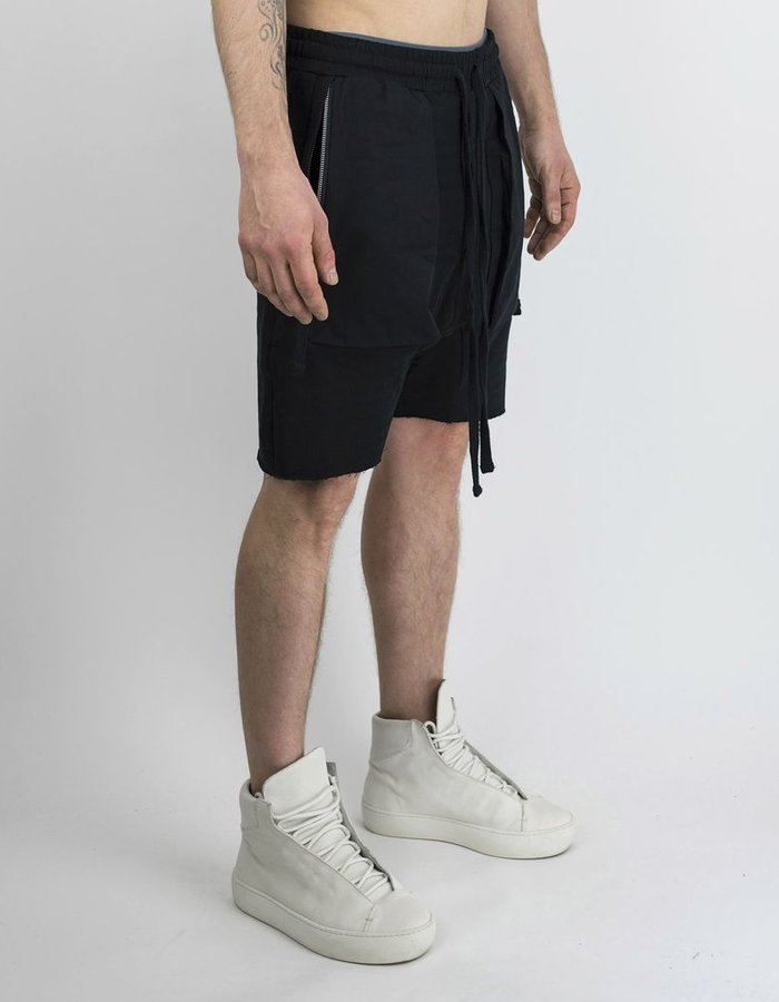 THOM KROM DRAWSTRING SHORTS WITH ZIP FRONT POCKETS