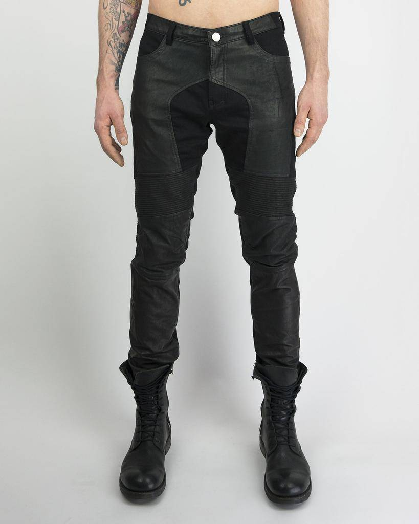 ALPHA CHICANE LEATHER JEAN
