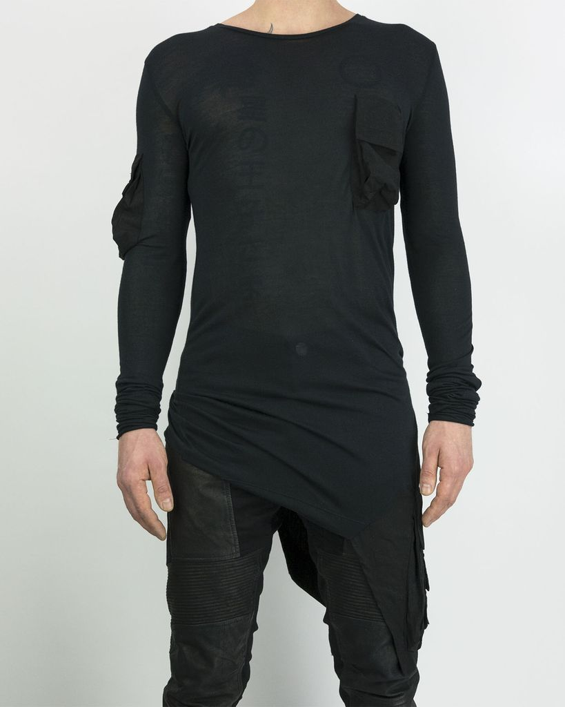 MULTI POCKETED JERSEY T BLK